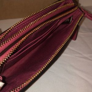 Coach Bags - NWT Coach Wristlet Brown Leather